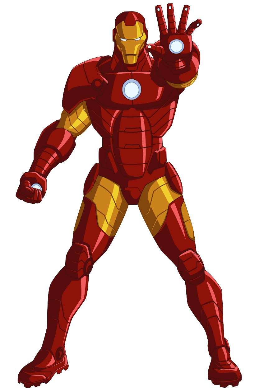 Superheroes clipart iron man cartoon.