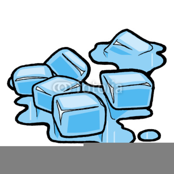 ice cube clipart melting