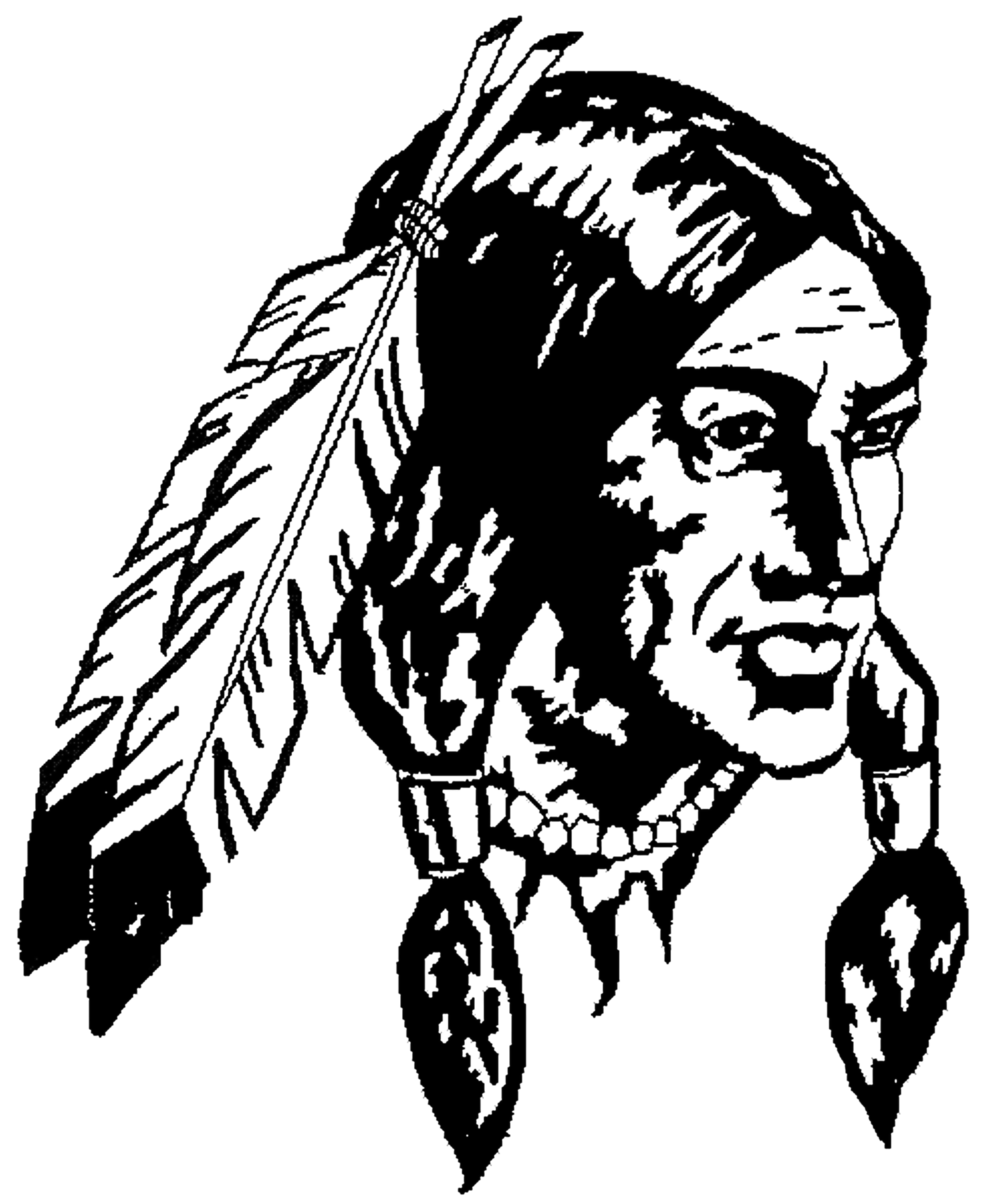 Indians clipart indian head.