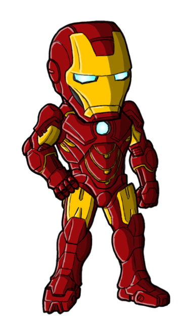 Ironman clipart animated.