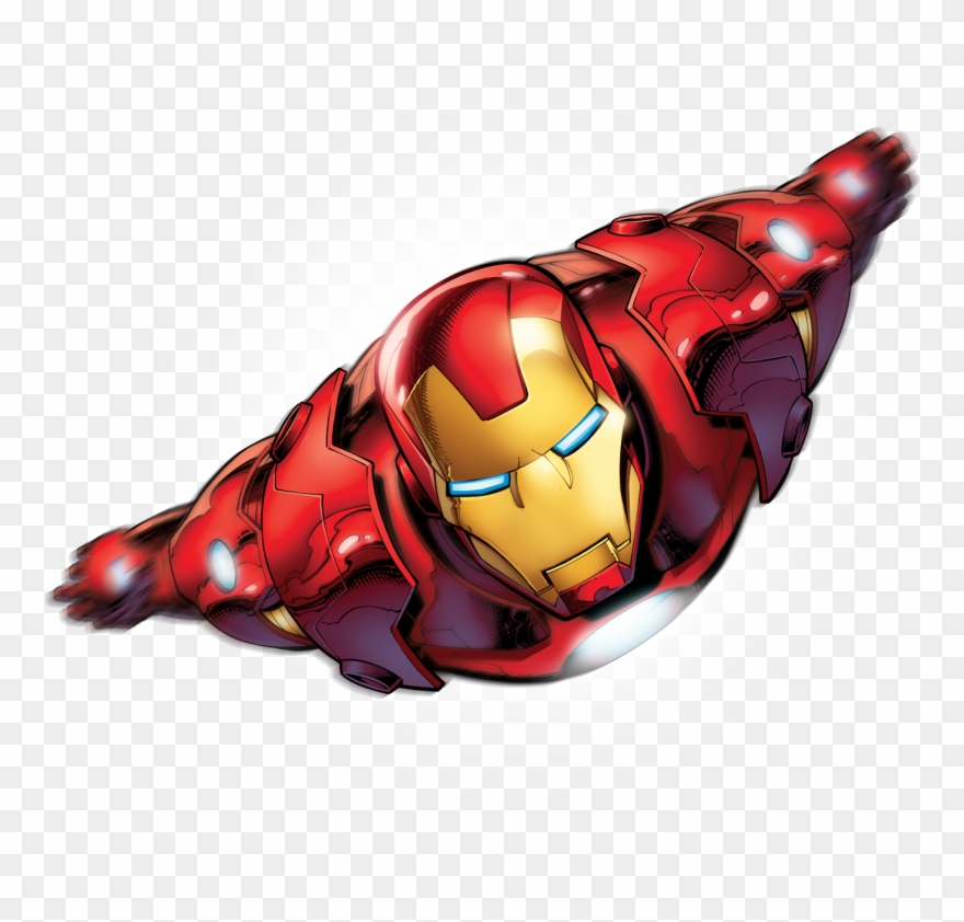 Ironman clipart flying.