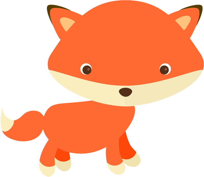 woodland clipart adorable fox