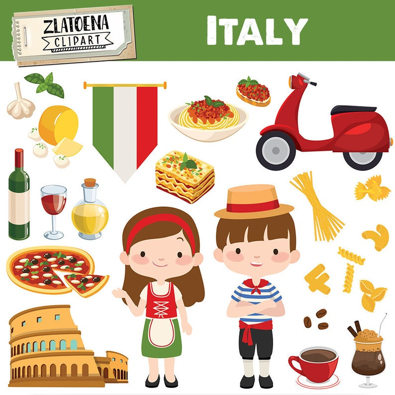 Pasta clipart food italian.