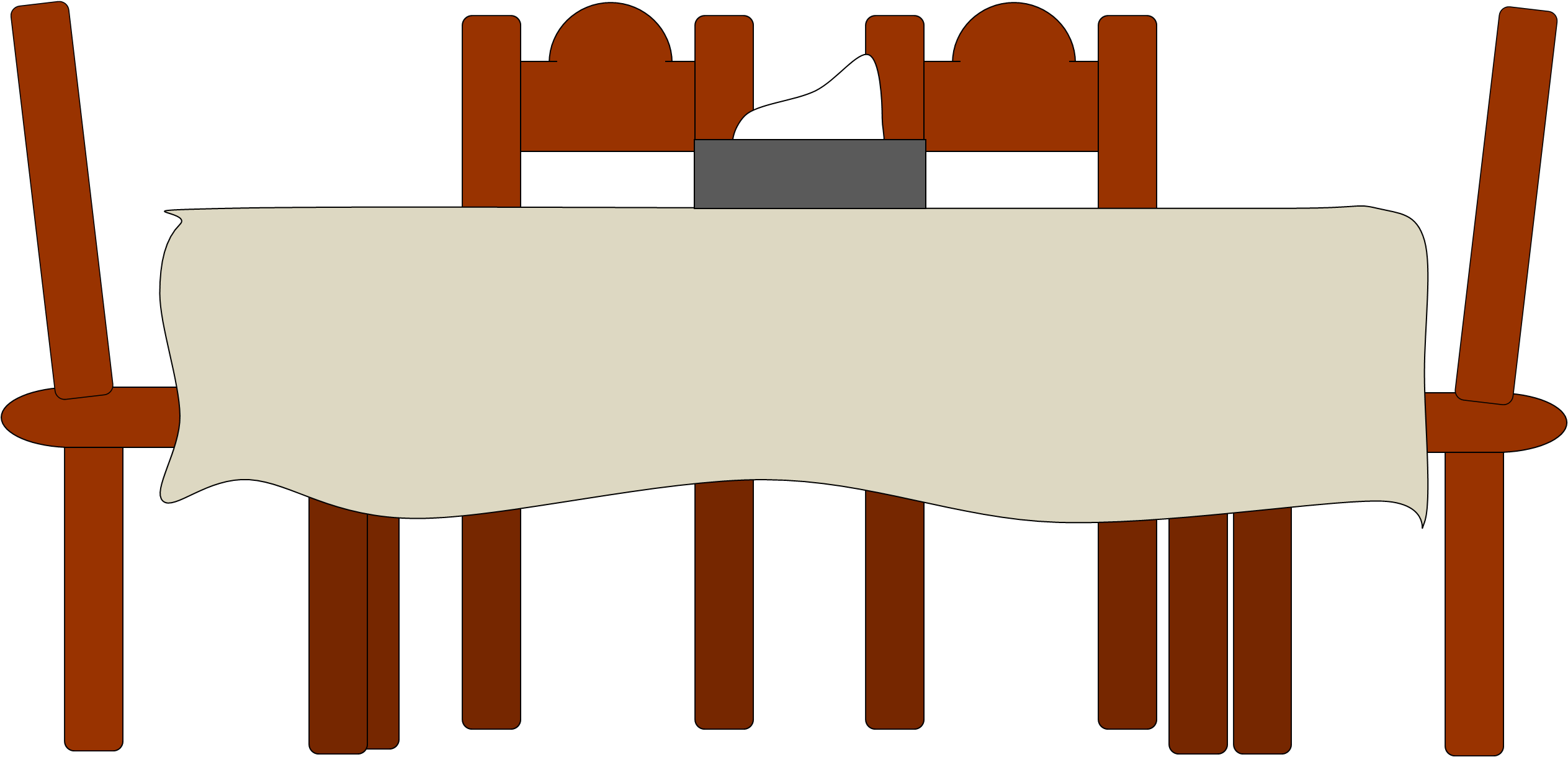 furniture clipart dining table