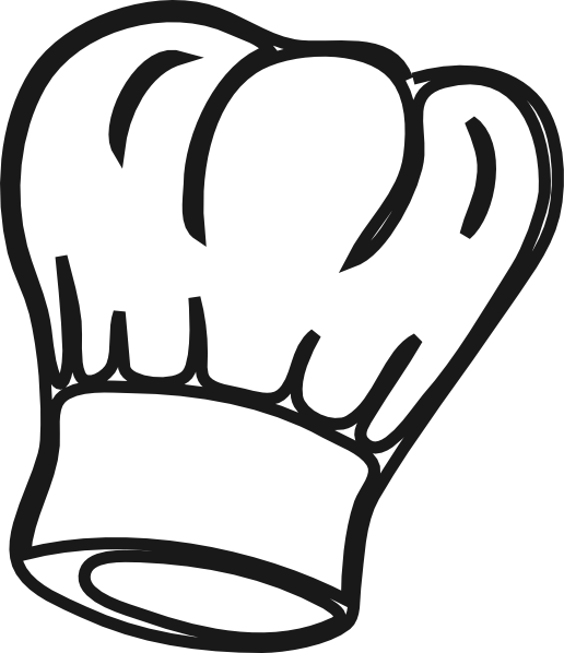 chef hat clipart simple