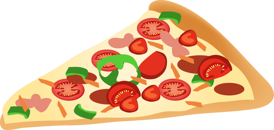 pizza slice clipart clear background