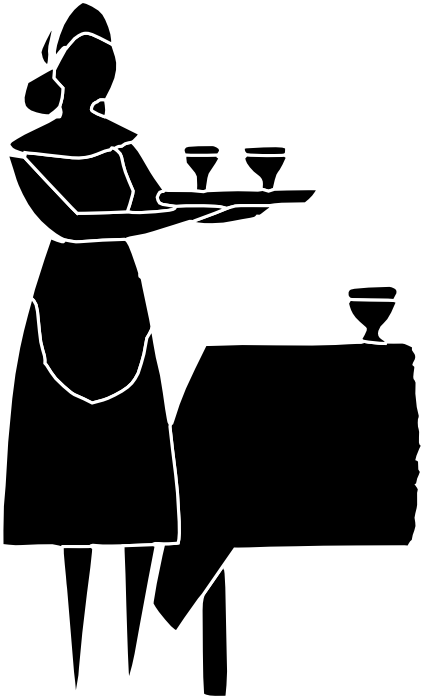 waiters clipart white