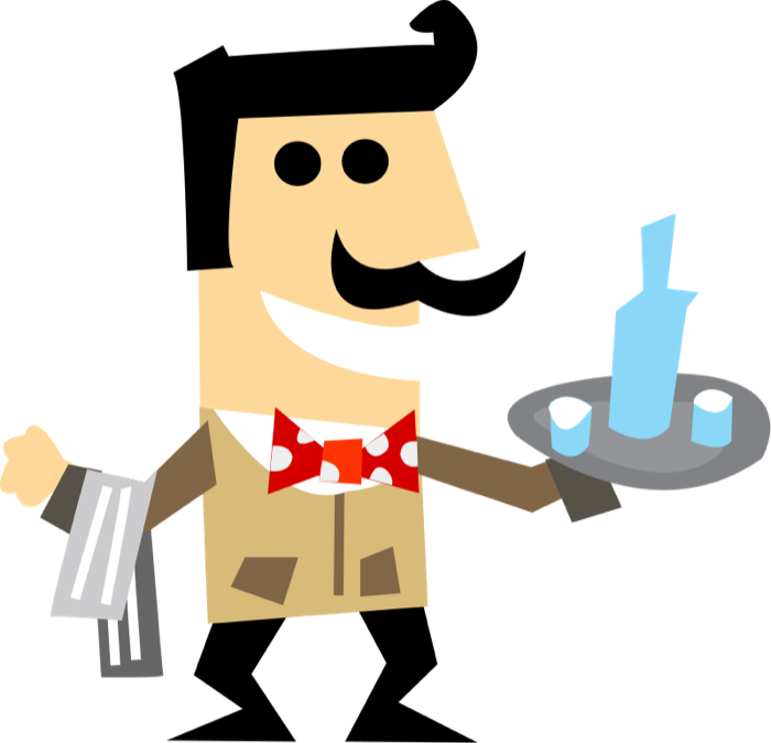 waiters clipart