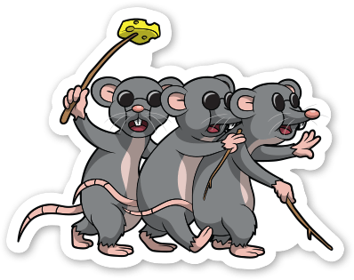 mice clipart three blind mouse