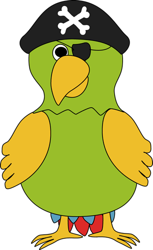 parrot clipart pirate