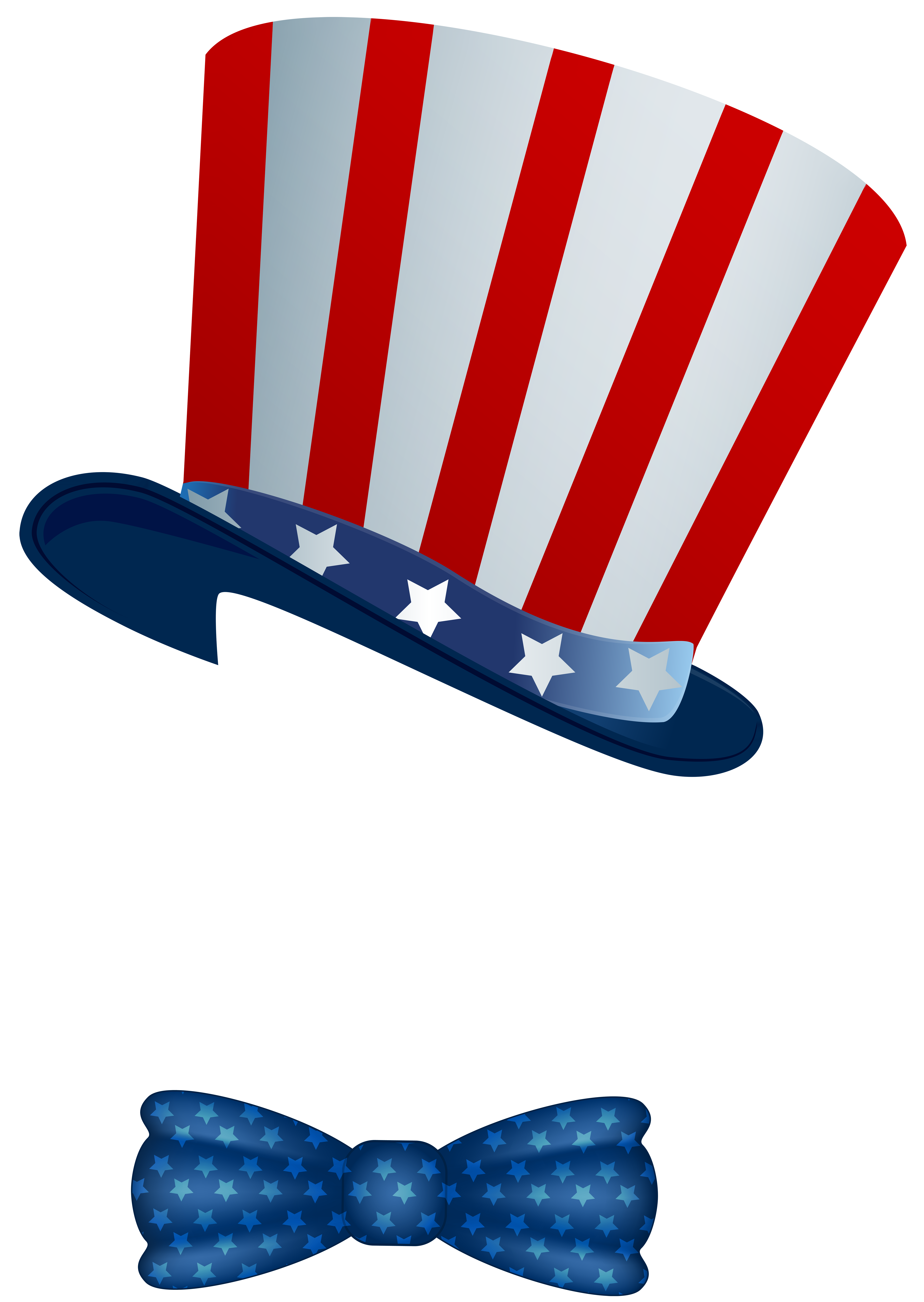 Patriotic clipart red white blue bow.