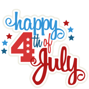 happy 4th of july clipart cute