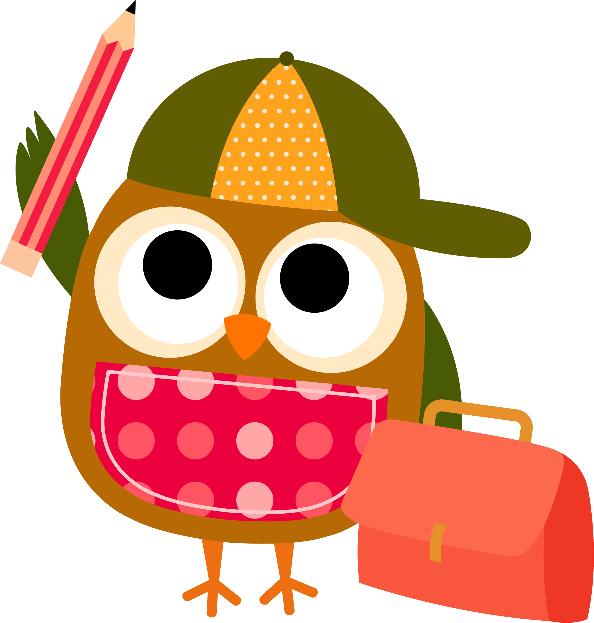 clipart writing owl