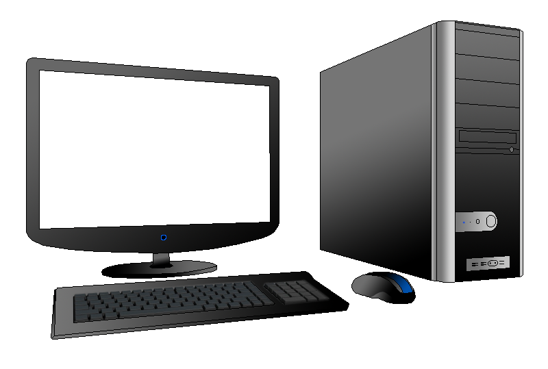 computer clipart computer station