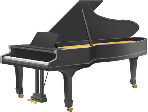 piano clipart vector