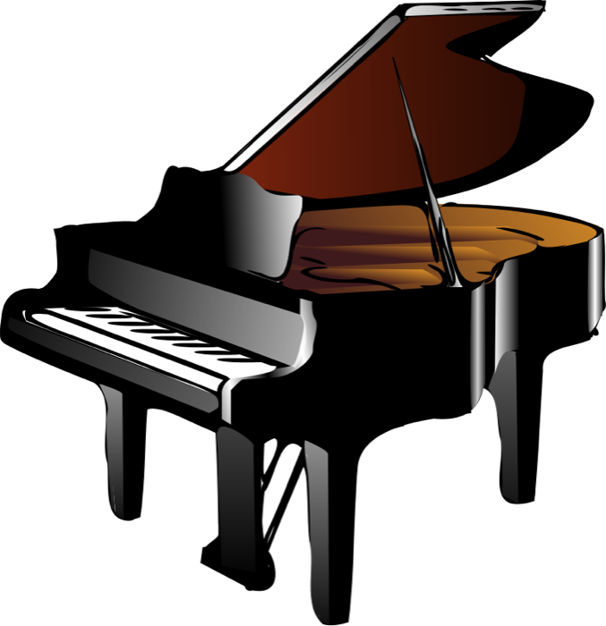 piano clipart cartoon