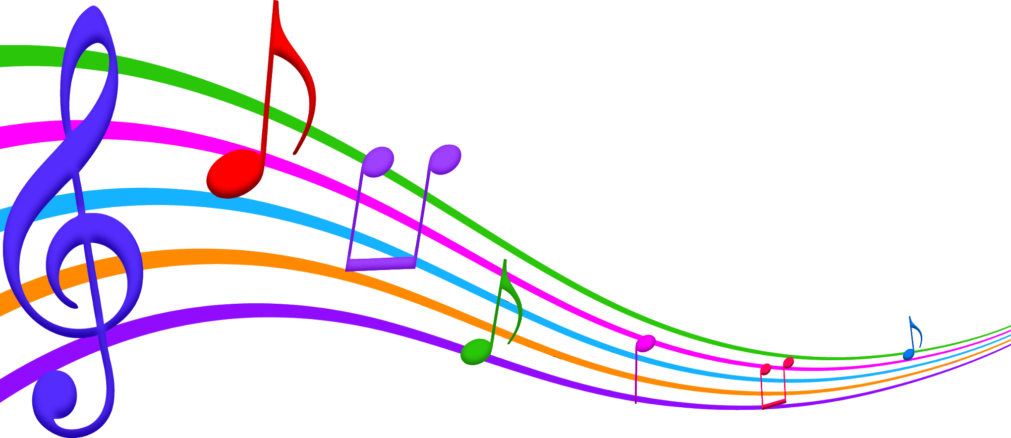 musical note clipart color