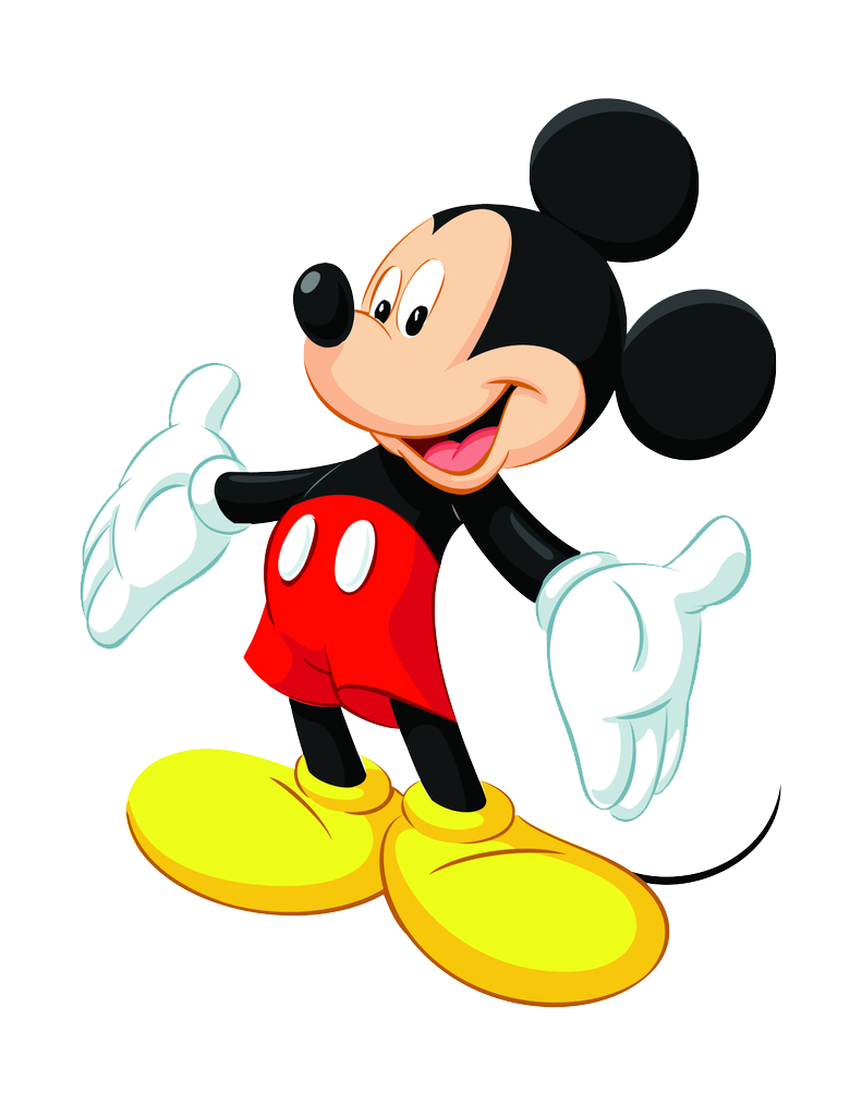 mickey mouse clipart transparent background