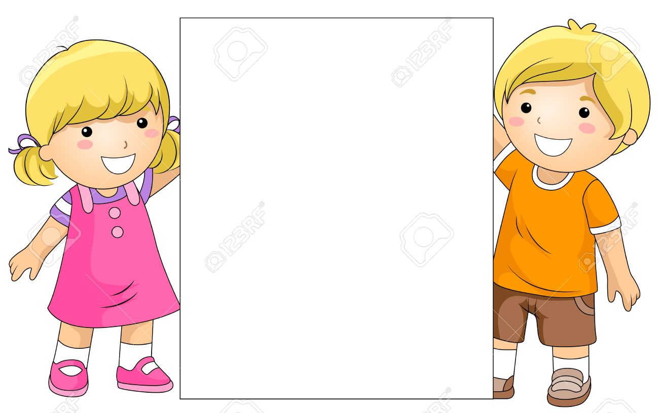 Kids clipart background.