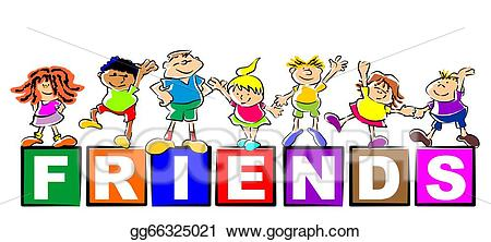friendship clipart drawing