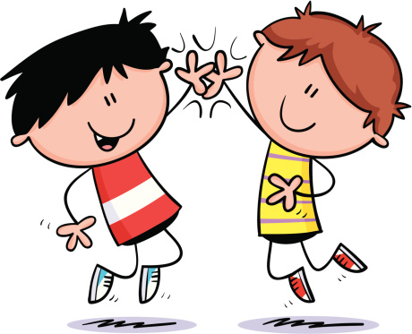 high five clipart outline