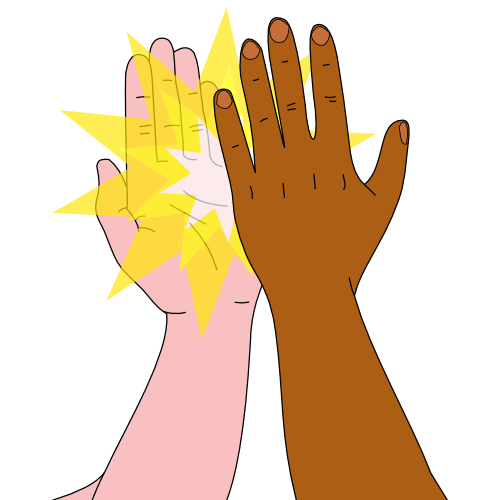 high five clipart student