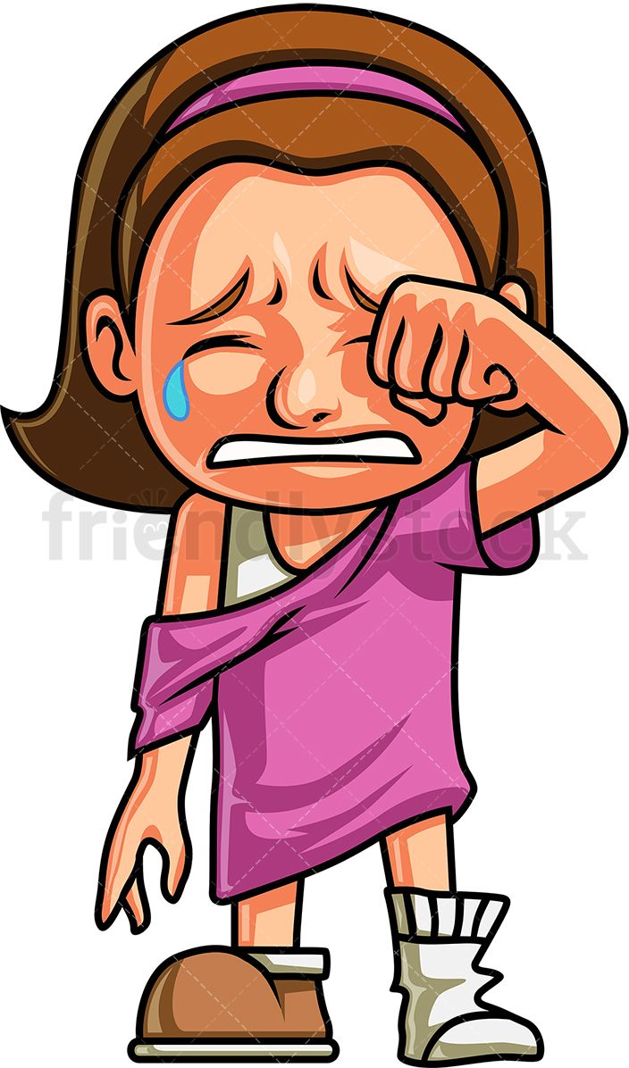 crying clipart cute