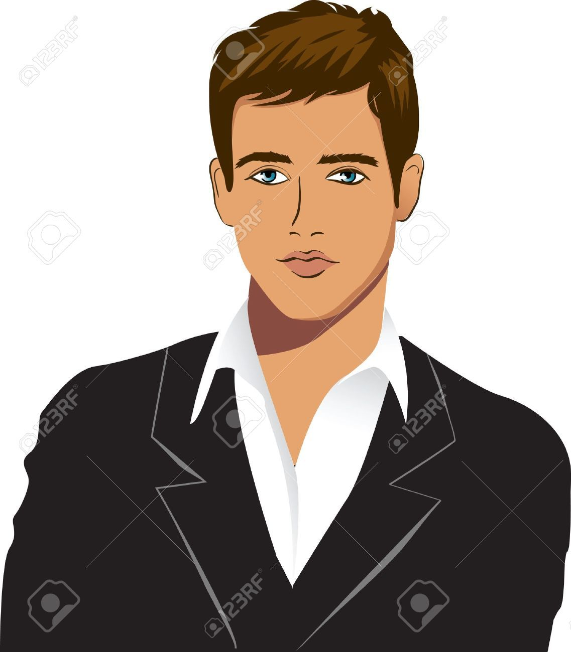 Kind clipart handsome.