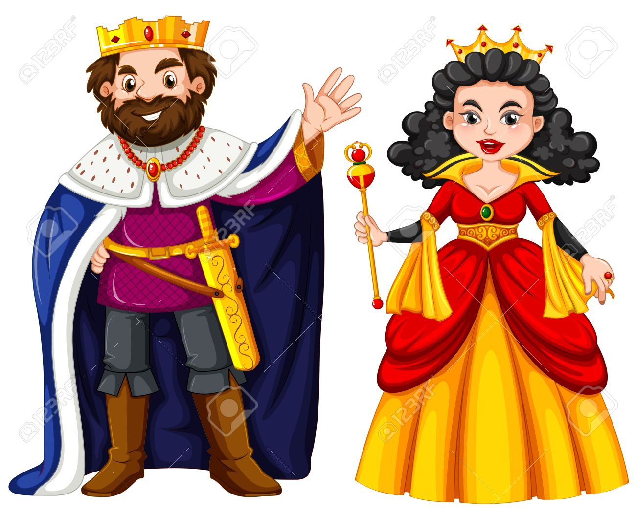 Kind clipart queen.