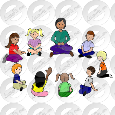 circle time clipart elementary student classroom