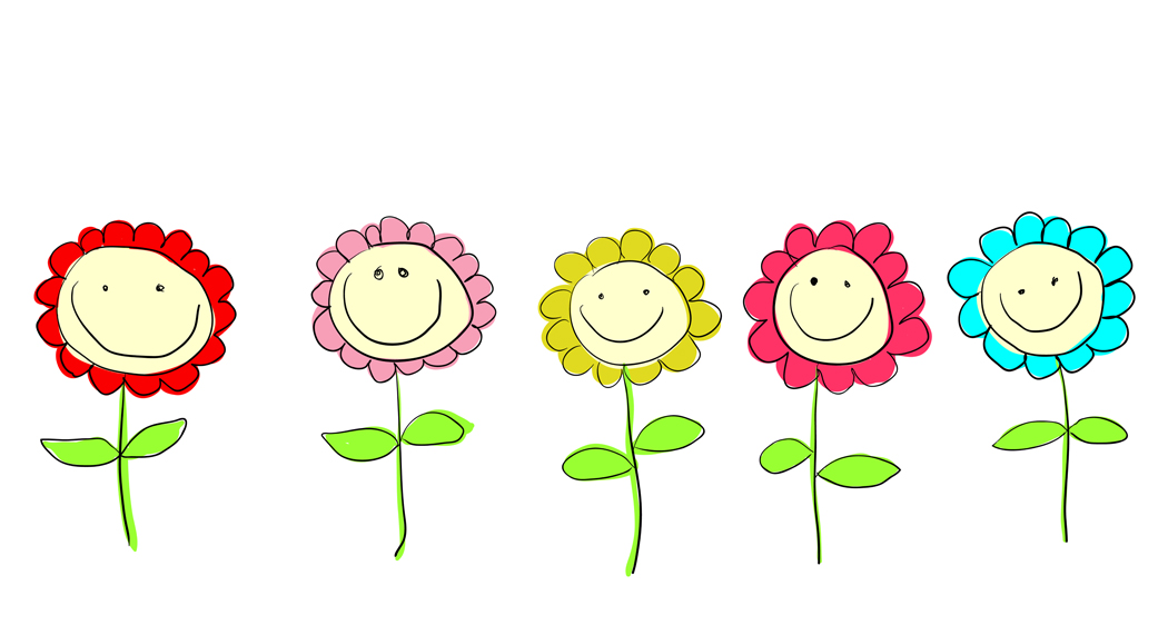 clipart smiley face flower