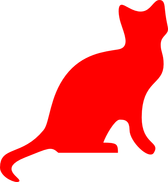 cat clipart red