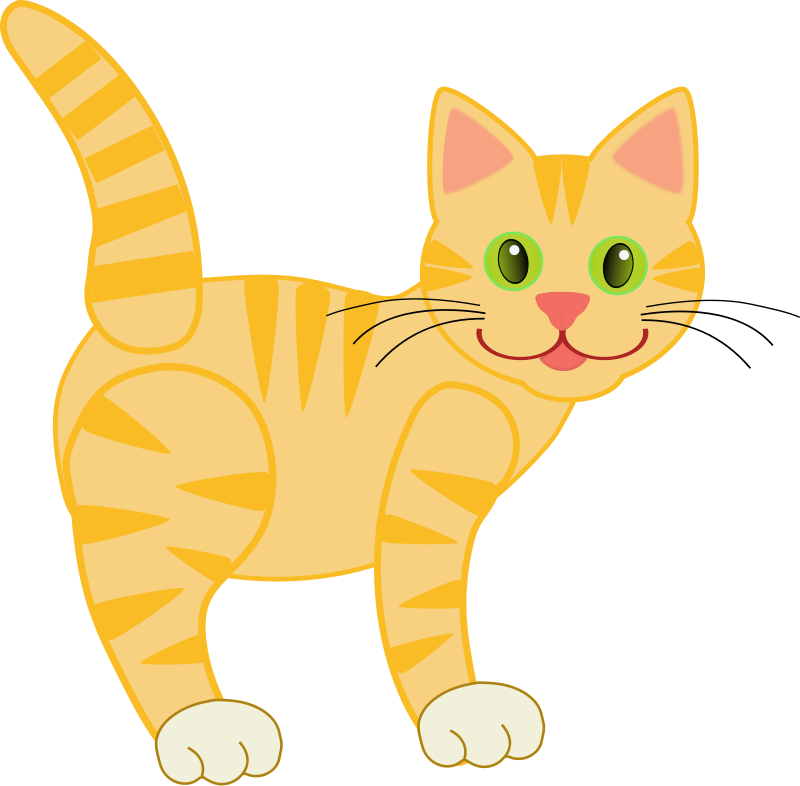 cat clipart side view