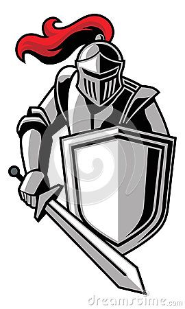 warriors logo clipart knight