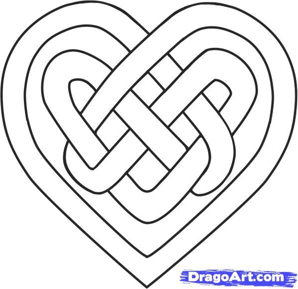 Knotwork clipart love heart.