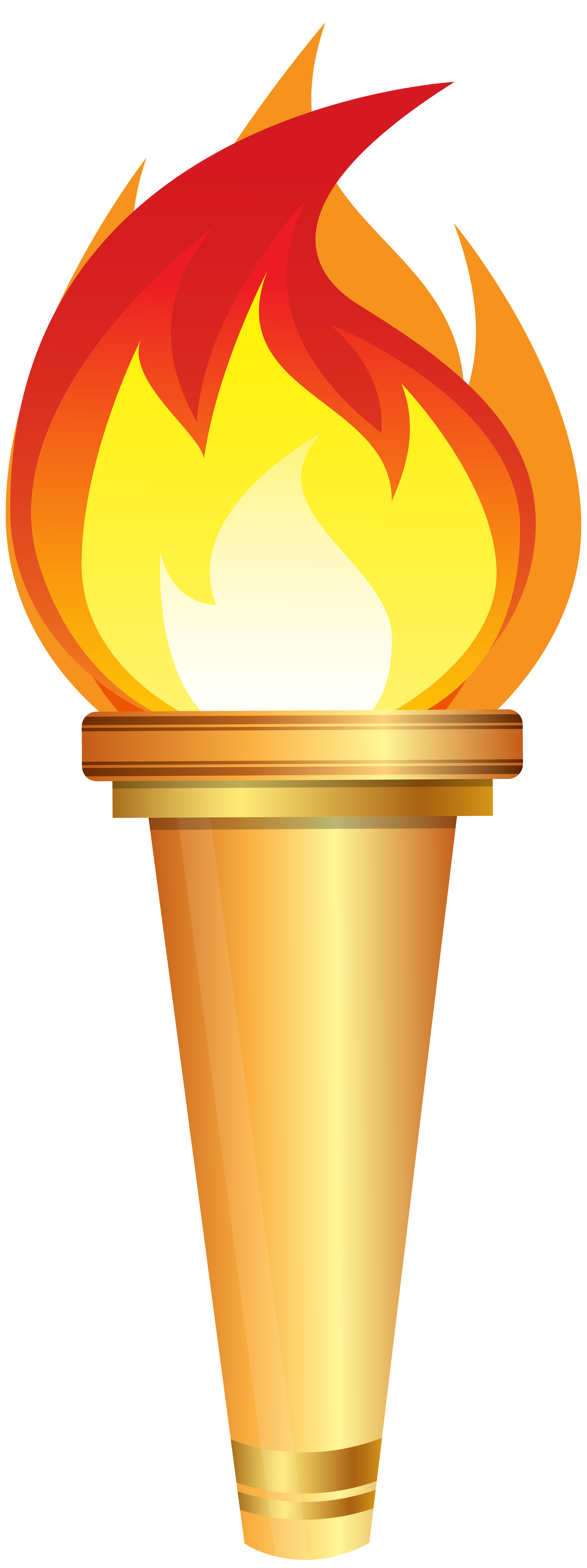 torch clipart gold