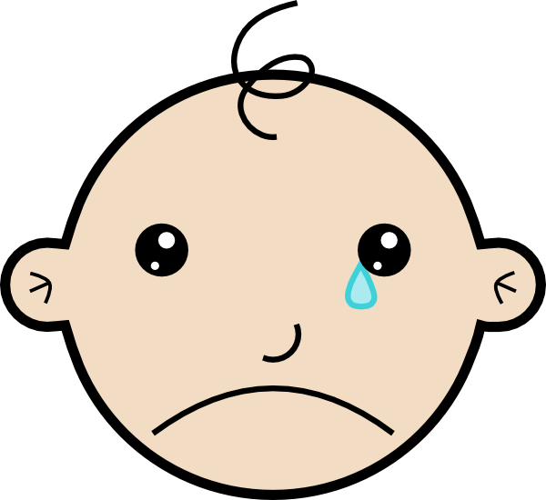 crying clipart baby