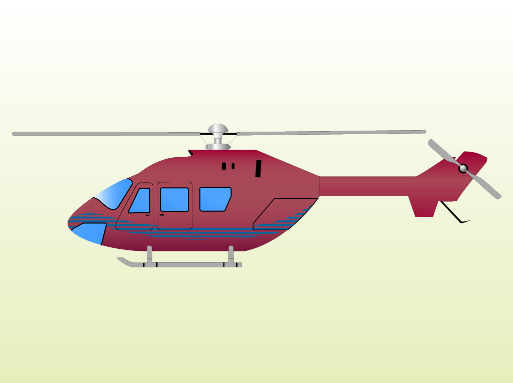 helicopter clipart vector