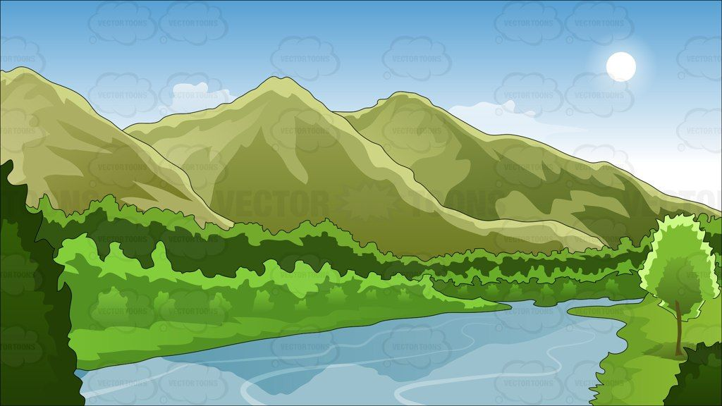 Outside clipart landscape.