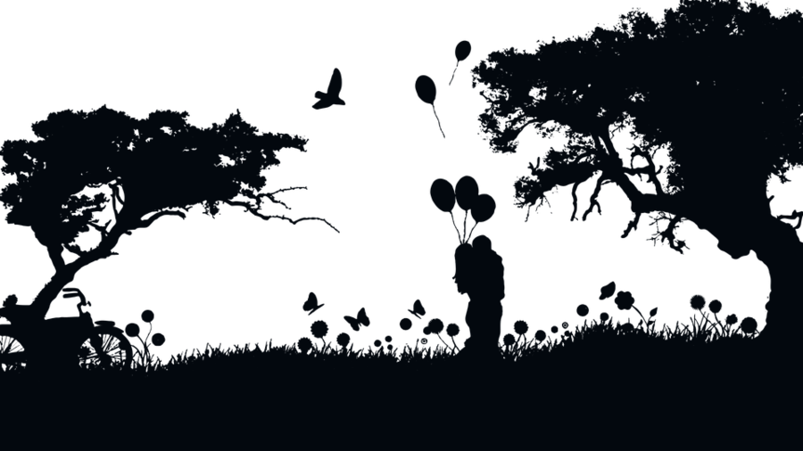 landscaping clipart silhouette