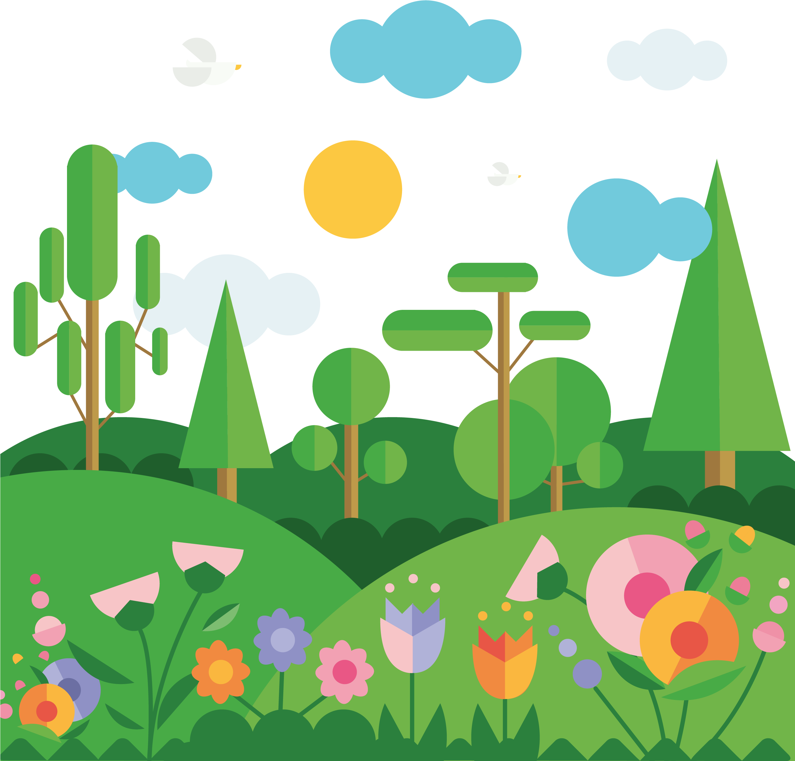 Landscaping clipart high resolution.