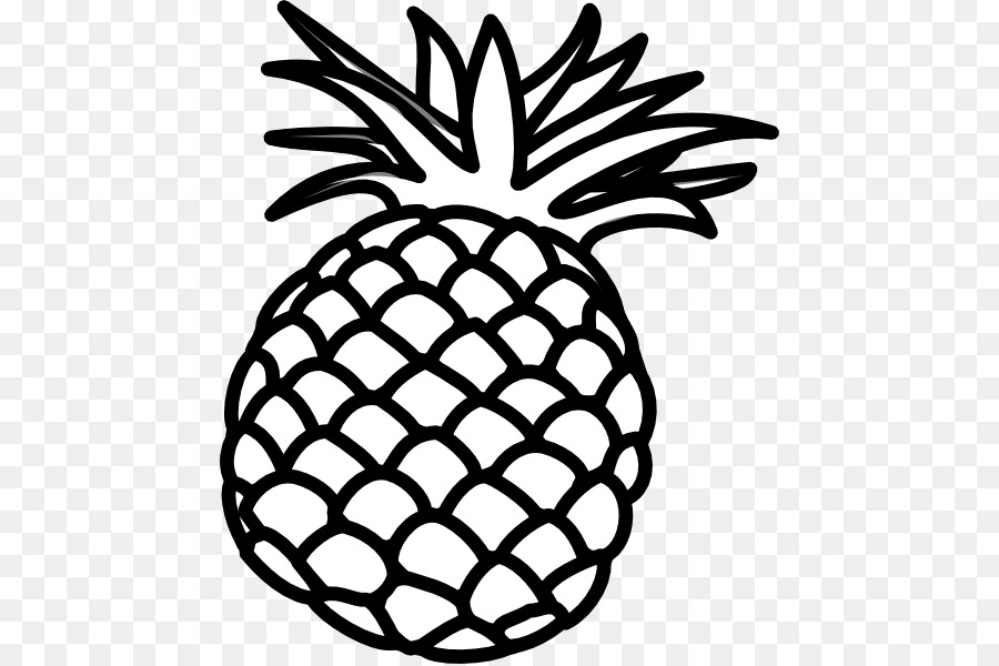 pineapple clipart black and white transparent