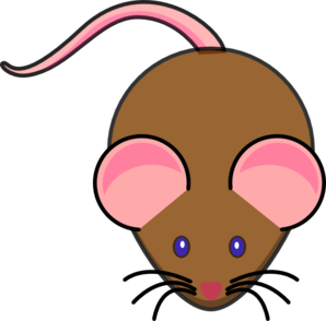 clipart mouse brown