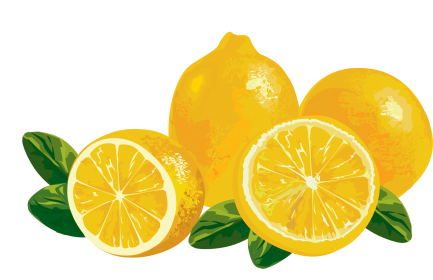 Lemon clipart transparent background.