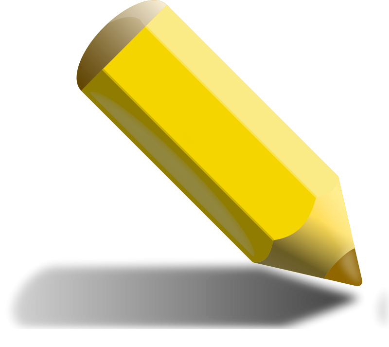clipart pencil yellow