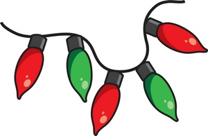 christmas light clipart red