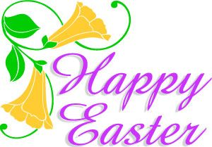 happy easter clipart word