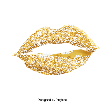 lips clipart rose gold