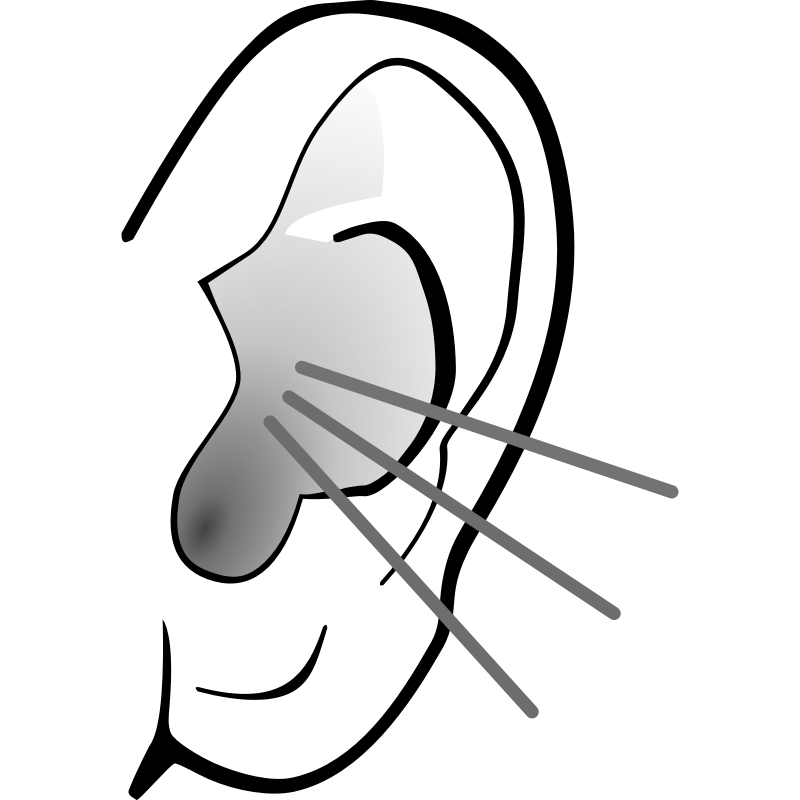 Listening ears clipart music note.