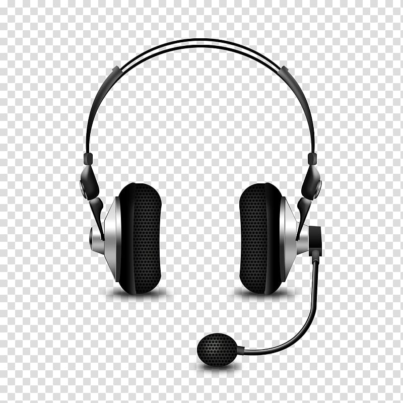 Listening ears clipart microphone headset.